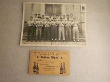 1950's Reber Moore Post 635 baseball team photo ticket Shillington, PA
