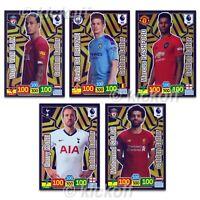 Panini Adrenalyn XL 2019-2020: Set of ALL 5 Golden Baller cards. Premier League