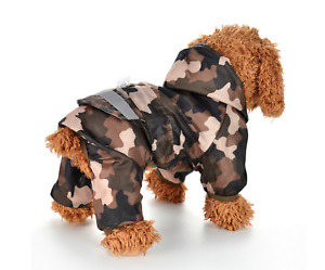 """Pet Palace """"Forces Dog"""" Military Army Lightweight Raincoat Waterproof Jacket"""