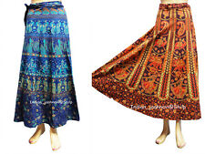 Floral Rapron Print Cotton Long Skirt Wrap Around Skirt Set of 2 Women Ethnic
