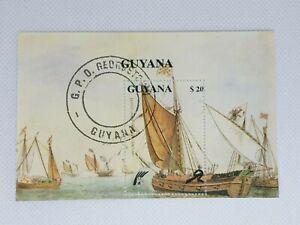 Guyana 1990 ships souvenir  stamp sheet CTO