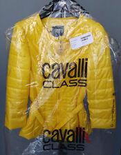 Cavalli Class women's yellow belted padded jacket size 44 IT*