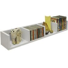 VIRGO - CD / DVD / Blu-ray / Media Wall Storage Shelf - White MS0075