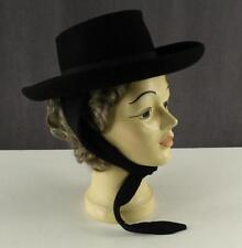Ladies Modern Clothing HECHT Doeskin Black Felt Ladies BOLLMAN Hat Ear Wrap