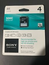 Sony 4GB SDHC Memory Card SF-4N4/TQ New In Package