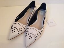 BNWTB 100% Auth By Dior Ladies Slip On Laser Cut, White Leather Shoes UK 7 £650