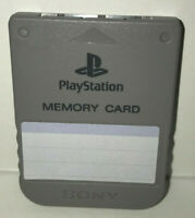 Playstation 1 Memory Card Gray PSX US/Japan PS1 Tested SCPH-1020