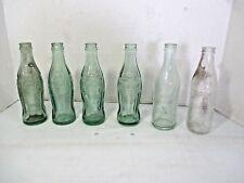 6 Vintage Coca Cola Coke Glass Bottles 1920's 12-25-23 San Diego Soda Works