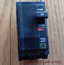 SQUARE D  QOB CIRCUIT BREAKER  30 AMP 2 POLE  120/240 VOLT QOB230