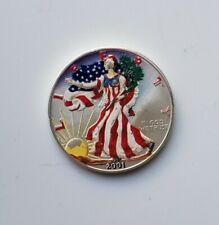 Painted Walking Liberty Indiana Silver Bullion Coin For Sale Ebay
