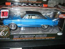 Highway 61 1967 Plymouth Satellite in Blue.1:18 Scale Diecast Part #50501.NEW
