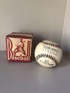"vintage horsehide cover baseball 9"" Faber Bros Semi-Pro league in orig box A507"