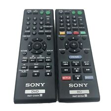 Lot of 2 Sony Remotes Rmt-B115A and Rmt-D197A Dvd Player Bd Controller Remote