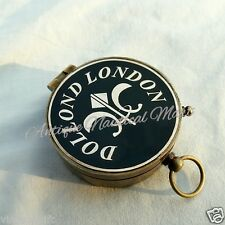 Antique Brass Nautical Compass Dollond London Vintage Desktop Decorative Item