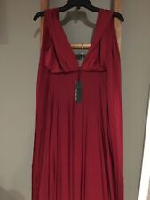 NEW! LULUS CONVERTIBLE BURGUNDY MAXI BRIDESMAID EVENING FORMAL GOWN DRESS SZ XS