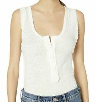 NWD Free People Womens Vacay Tank Top White Size S