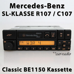 Original Mercedes R107 SL-Klasse Classic BE1150 Autoradio Kassette Becker Radio