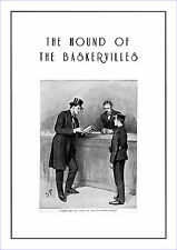 "Sherlock Holmes poster Hound of the Baskervilles  11.7"" x 16.5"" by Sidney Paget"