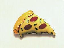 Slice of cheese pizza enamel pin badge brooch lapel kawaii 30mm