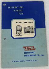 Eico 232 249 Peak To Peak Vtvm Instruction Manual Original Manaul