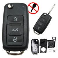 NEU Klappschlüssel 3 Tasten Gehäuse Modern Autoschlüssel passend für VW Skoda