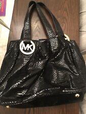Michael Kors Authentic Black Snakeskin Handbag