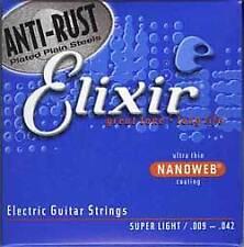 Elixir Nano súper ligero 9-42 Guitarra Eléctrica Cuerdas