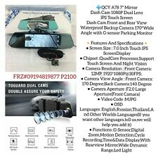 Dash Cam Front and Rear View Waterproof Backup Camera 170°