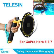 "TELESIN 6"" Dome Port Waterproof Case for GoPro Hero 5 6 7 Underwater Photograph"