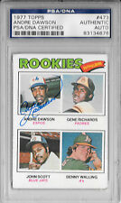 ANDRE DAWSON Signed 1973 TOPPS Expos CUBS MLB ROOKIE Baseball CARD #473 PSA/DNA