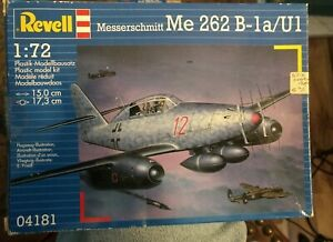 World War Two German Me 262 Jet 1/72 Scale by Revell factory sealed parts in box