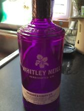 Whitley Neill  Purple Gin bottle 70cl - Upcycle Craft, wedding, decoration, lamp