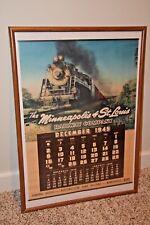 MINNEAPOLIS & St LOUIS RAILWAY Vintage 1945 Wall Calendar