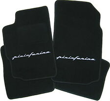 Floor mats for Peugeot 406 coupe black velours 1997-2005 Pininfarina  gray