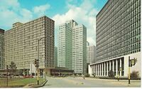 Postcard PA The Gateway Center Hilton Hotel Street View Chrome Vintage