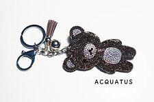 Rilakkuma Bear Keyring Keychain Handbag Charm Tassel Rhinestone Soft Kawaii Cute