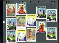 12 Vintage 1947 Utah Centennial Tourism Poster Stamps (L973)