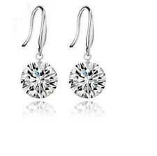 925 Sterling Silver Plated Cubic Zirconia CZ Drop Hook Earrings + FREE Gift Bag