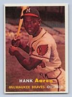 "1957 HANK AARON - Topps - ""REPRINT"" Right Variation Baseball Card #20 - BRAVES"