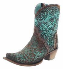 Corral Boots C3427 Brown Turqoise Damen Stiefelette Westernstiefelette Braun