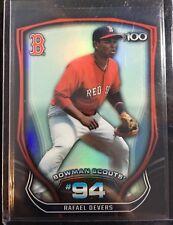 Rafael Devers 2015 Bowman Chrome Scouts Top 100 Refractor Card #BTP-94 Red Sox