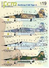FCM Decals 1/32 NORTHROP F-5E TIGER II Brazilian Air Force Jet Fighter
