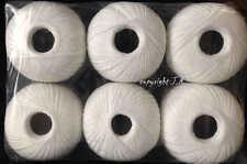 Häkelgarn Maxipaket 600 Gramm weiss + weiß Baumwolle-Filet-Garn häkeln Filetgarn