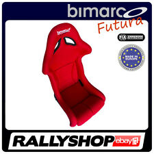 Rennsitz BIMARCO FUTURA FIA Homologation ROT Velour Vollschalensitz Sitze