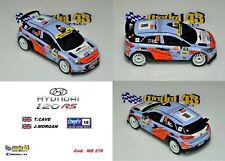 DECAL  1/43 -  HYUNDAI i20  R5  - CAVE  - Rally  YPRES  2017