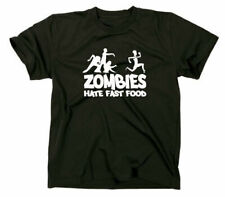 Zombies Hate Fast Food Fun T-Shirt Zombie Horror Funshirt Walking Dead