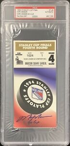 Mark Messier Signed Full Ticket 6/14/95 Stanley Cup Finals NYR Autograph PSA/DNA