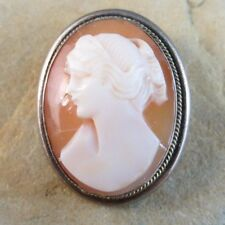 Shell Cameo Lady Pendant Brooch #319 New listing