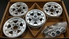 "RC Channel 1.9"" Beadlock Aluminum wheel set. Titanium silver color"