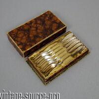 6 Walter 90er Silber Gabeln Kuchengabeln im Kasten Art Dèco 30er - 50er Jahre